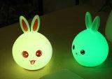 Luz linda portable de la noche del juguete del silicón del sensor del tacto de la atmósfera LED