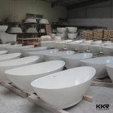 Baignoire ronde de salle de bains d'articles de pierre sanitaire de meubles
