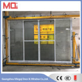Раздвижная дверь Tempered стекла PVC балкона с сетью москита