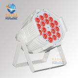 IGUALDAD blanca Proejtor de la luz de la etapa ligera de la IGUALDAD de un brillo más alto LED de Panta V18 5in1 Rgbaw del caso con DMX Powercon para el partido de la luz de la etapa