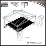 Diseño al aire libre de aluminio de la etapa del concierto de la plataforma de madera con la azotea del braguero