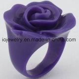 Los mejores anillos de Rose de la resina del regalo del día de tarjeta del día de San Valentín
