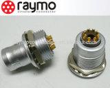 Conector hembra-varón del Pin del enchufe fijo 8 de Non-Laching del conector circular del metal del MARICA