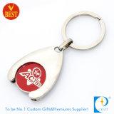 Carretilla/símbolo/compras/moneda Keychain del supermercado para Reino Unido
