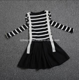 Black&White Striped Frauen `S Kleid