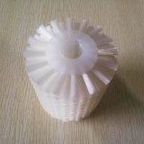 Cepillo de nylon blanco del rodillo de la categoría alimenticia para la limpieza