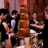 ケイタリング装置4tiers宴会の商業チョコレート噴水機械