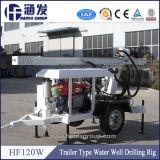 Plate-forme de forage hydraulique de Hf120W, il peut forer la profondeur de 120m