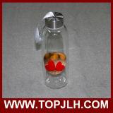 Botella de agua de cristal impresa al por mayor caliente del traspaso térmico