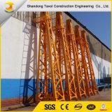 Кран башни высокой собственной личности безопасности взбираясь используемый конструкцией