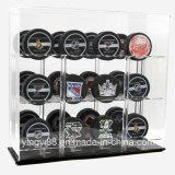 Cas d'exposition acrylique neuf de galets d'hockey