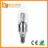 Bombilla super brillante SMD E14 3W LED de la vela de la lámpara de interior