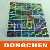 Étiquettes colorées de estampage chaudes d'hologrammes