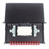 1u 19 인치 24 포트 선반 마운트 광섬유 패치 패널