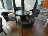 Rattan esterno di vimini che pranza insieme con la mobilia dell'hotel