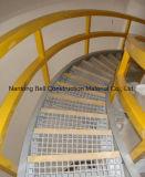 Grating do plástico reforçado fibra de vidro, sistema de trilhos da fibra de vidro, corrimão, passo de escada