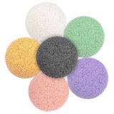 HotSelling forma de media bola de Konjac Esponja con 9 colores