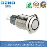 """Cromo interruptor del diámetro del interruptor pulsador metal el 1/2 con./desc. """""""
