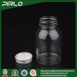 220ml Aliments Grade Plastic Aliments pour animaux de compagnie Jars Pill Jars Beads Jars Jards de sel Honey Jars Candy Jars Metal Lid