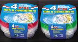 Le plastique de Sqaure emportent le conteneur de nourriture de Microwavable 25oz