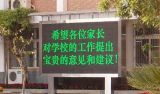 P10 escolhem o indicador ao ar livre do texto da tela do módulo do diodo emissor de luz do MERGULHO verde