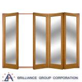 Дверь хорошего качества роскошная алюминиевая Bi-Складывая