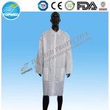 Nichtgewebtes Wegwerflabormantel-Besucher-Kleidung-Laborkleid