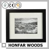 Frame de madeira preto da foto do retrato da simplicidade para o estúdio da foto