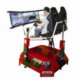 Simulador lleno del coche de carreras del movimiento del equipo de la diversión con 3 pantallas