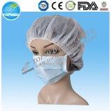 3 -ply no tejido con el oído de bucle desechable mascarilla quirúrgica