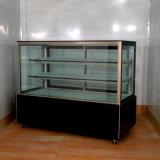 Gerader Glasmarmorbäckerei-Schaukasten-Kühlraum
