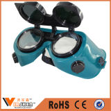 Verde Mover de un tirón-para arriba los anteojos económicos de la soldadura de la protección de ojo de la lente de la PC de la lente de las lentes de la soldadura