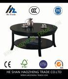 Hzct045 mesa de centro redonda metropolitana, mancha de óxido del café express