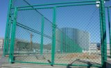 Cerca revestida da ligação Chain do PVC da barreira dos campos de esportes