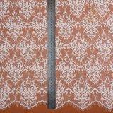 Tessuto francese africano del merletto del ciglio di cerimonia nuziale di alta qualità
