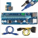6PinはUSBの延長ケーブルが付いている16X PCI-E USB 3.0のアダプターのカードにPCI-E PCIの明白な暴徒1Xに動力を与えた
