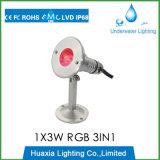 316stainless acciaio IP68 LED che nuota l'indicatore luminoso subacqueo del raggruppamento