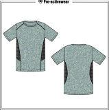 Рубашки обжатия предохранителя Lycra Spandex опрометчивой белой приспособленные верхней частью