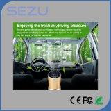 Chargeur de voiture USB d'échantillon gratuit Métal 2 en 1 Chargeur de voiture pour téléphone portable