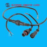 IP68電源コード小さい4つのPinの女性のCamlockの防水コネクターのタイプ