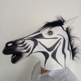 Masque de zèbre animal Latex d'Halloween de haute qualité
