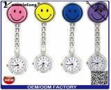 100% vigilanza calda diretta dell'infermiera di sorriso del silicone di abitudine di vendita 2016 della fabbrica Yxl-275, vigilanza medica del Brooch della casella di vigilanza del dottore Watch Clock/Fob