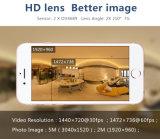 Cámara panorámica doble del deporte de 360 grados de la lente