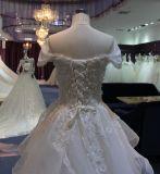 Vestido de casamento barato da praia da luva simples da parte inferior do plissado