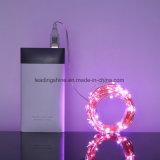 Света шнура рождества силы звёздные СИД USB с 20 миниым Micro СИД на проводе 6.6FT длиннем серебряном