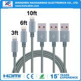 Caractéristiques à grande vitesse du nylon USB/câble de remplissage pour le téléphone mobile