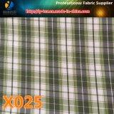 ¡Mercancías en existencias! Tela de materia textil colorida de la verificación del poliester para la ropa (X025-27)