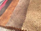 Tessuto della pelle scamosciata del tessuto del poliestere per la copertura del sofà (K033)