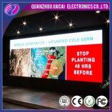 Tarjeta publicitaria de interior a todo color de la muestra de la visualización video del LED