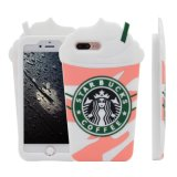 iPhone 7 3D Starbucks Kaffeetasse eindeutiger Universial Silikon-Kasten